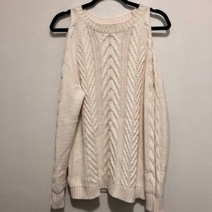 NWT Loft Cold Shoulder Open Sleeve Sweater